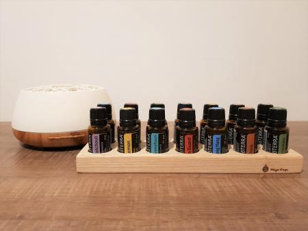 Suport din lemn de frasin pentru 14 sticlute de ulei esential 15 ml [3]