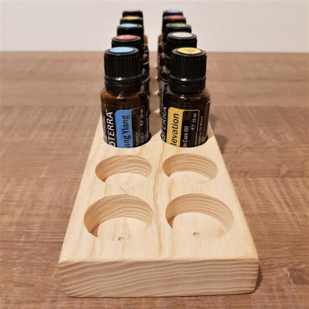 Suport din lemn de frasin pentru 14 sticlute de ulei esential 15 ml [2]