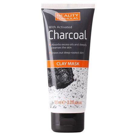 Beauty Formulas - Masca faciala cu carbune activ si argila ( de caolin) 100ml 0