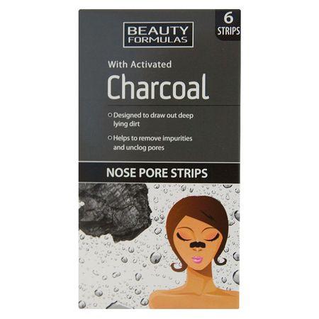 Beauty Formulas - Plasturi pentru curatarea porilor cu Carbune Activ - 6 buc., Beauty Formulas 0