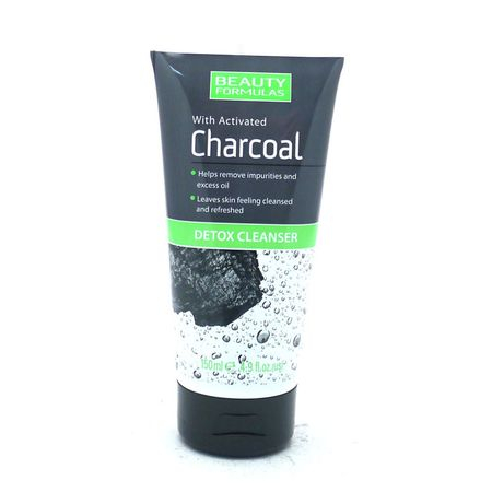 Gel de curatare faciala Detox Cleanser cu Carbune Activ, Beauty Formulas, 150ml 0