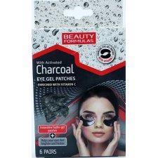 Set comprese revitalizante pentru ochi cu Carbune Activ , Beauty Formulas, 6 tratamente, Beauty Formulas