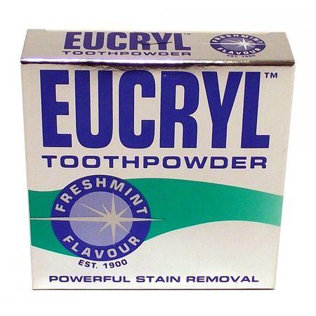 Pudra pentru albit dintii Eucryl Freshmint 50g