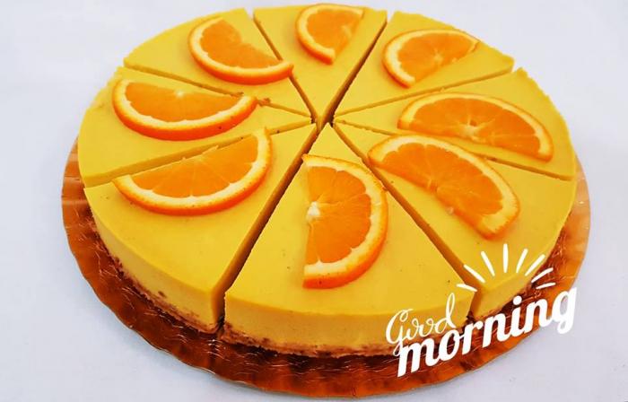 tort raw vegan cu portocale 0