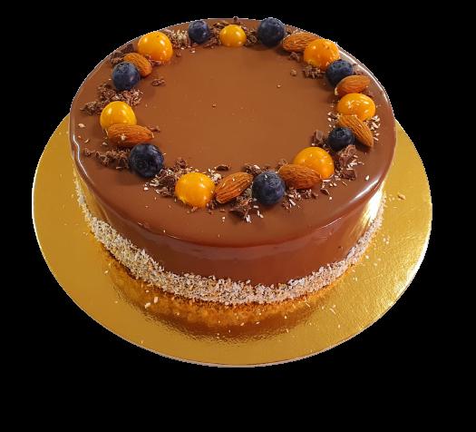 Tort fara zahar - ciocolata si mango [0]