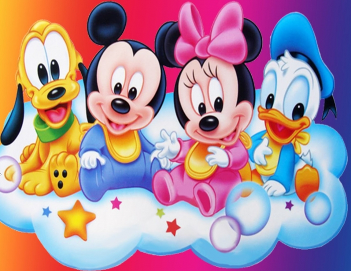 Imagine Disney cu Mickey si Minnie Mouse, Ratoiul Donald Duck si Pluto