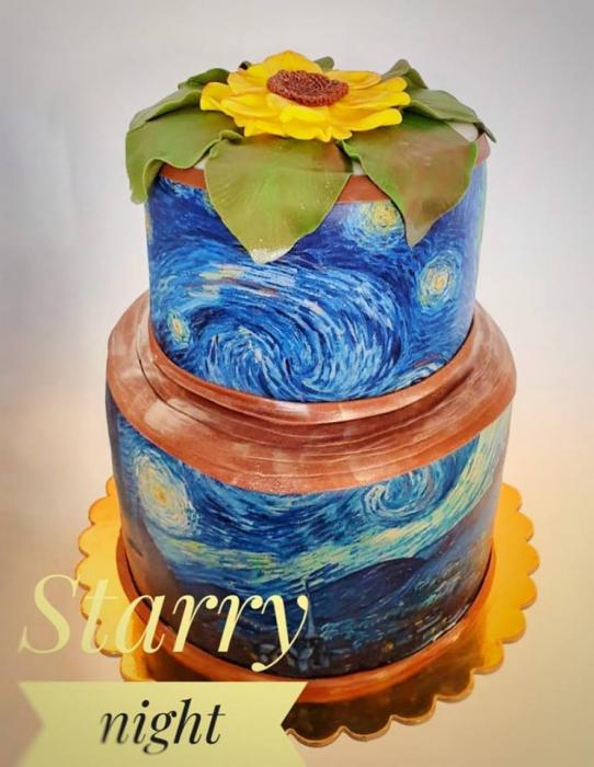 Tort de nunta cu martipan si flori din pasta de zahar 0
