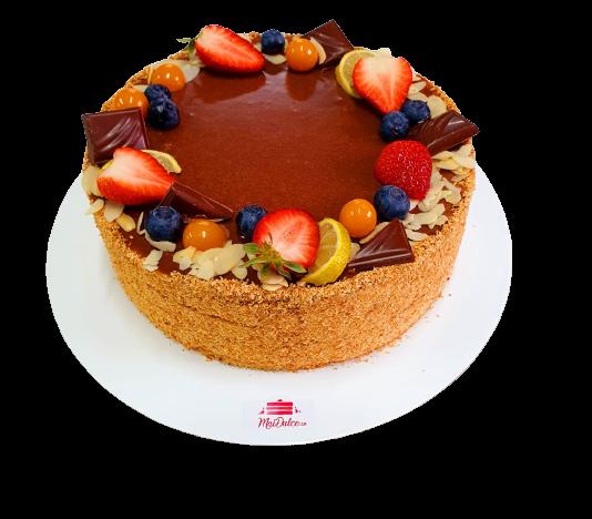 Tort dietetic cu vanilie și zmeură [0]