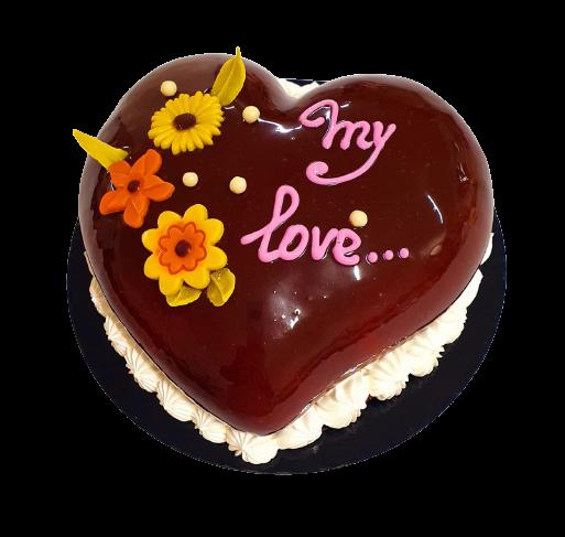 Tort inimioara cu ciocolata neagra 0