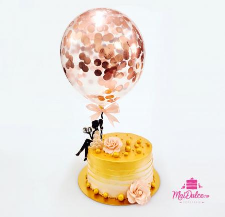 Tort Golden Lady - blat nuca si ciocolata cu lapte0