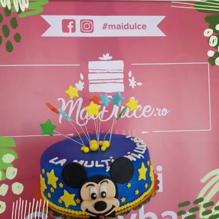 Tort de martipan cu Mikey Mouse1