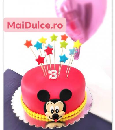 Tort de martipan cu Mikey Mouse0