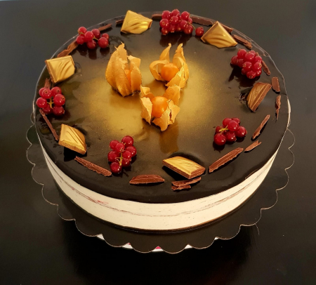 Tort dietetic cu vanilie și zmeură [1]