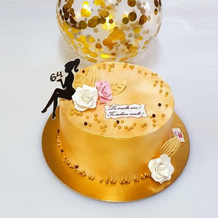 Tort Golden Lady - blat nuca si ciocolata cu lapte1