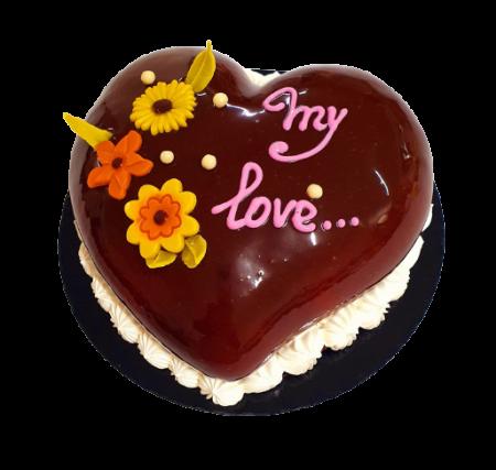 Tort inimioara de ciocolata0