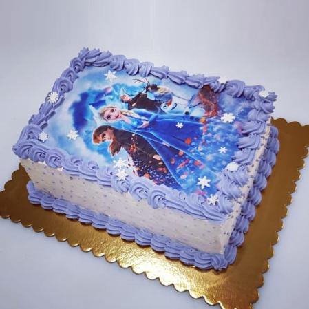 Tort pentru copii - imagine FROZEN - ciocolata si fructe de padure2