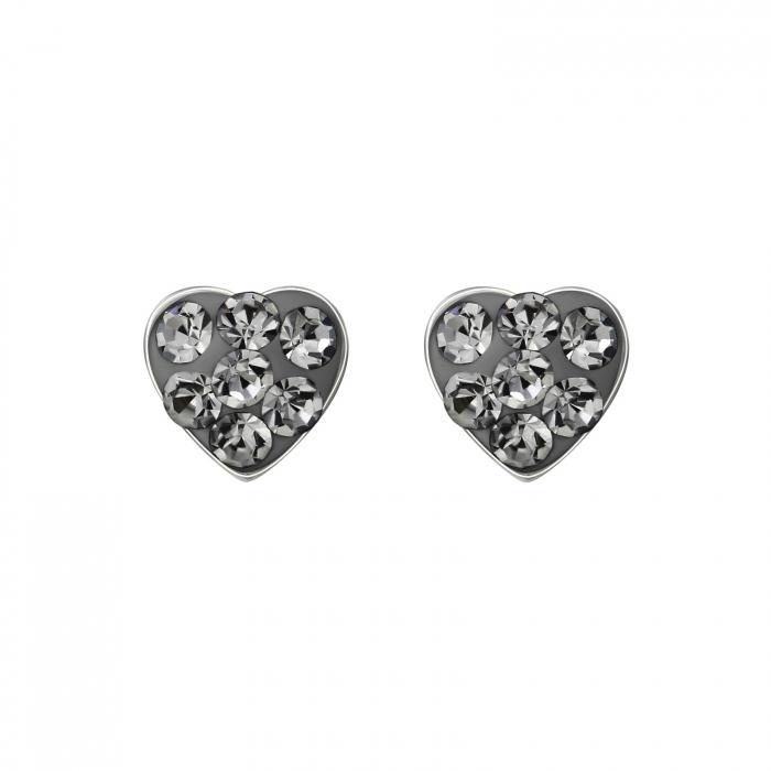 CERCEI ARGINT BLACK DIAMONDS HEART 0