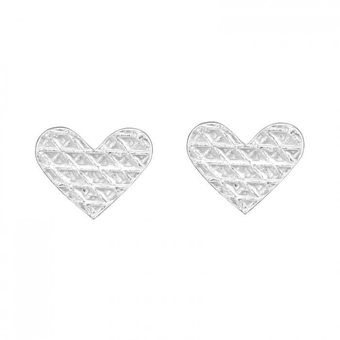 CERCEI ARGINT LITTLE DIAMONDS HEARTS [0]