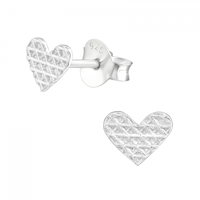 CERCEI ARGINT LITTLE DIAMONDS HEARTS - FOR HER 2