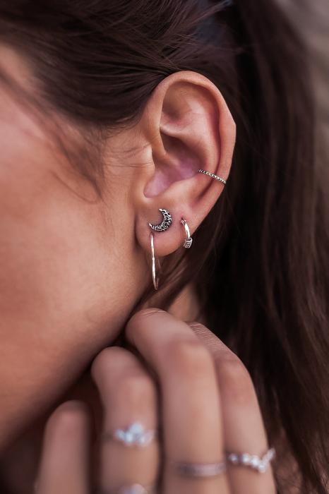 CERCEL EAR CUFFS TIBET ARGINT [2]