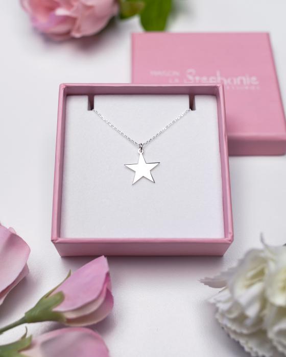 LANTISOR ARGINT 925 STAR LOVE - FOR HER 0