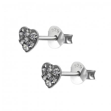CERCEI ARGINT BLACK DIAMONDS HEART1