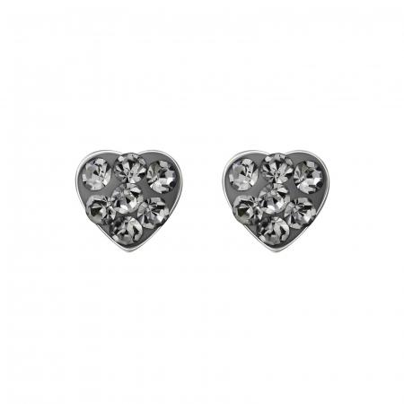 CERCEI ARGINT BLACK DIAMONDS HEART0