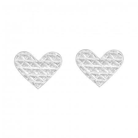 CERCEI ARGINT LITTLE DIAMONDS HEARTS - FOR HER1