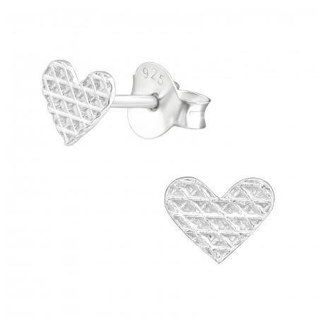 CERCEI ARGINT LITTLE DIAMONDS HEARTS [1]