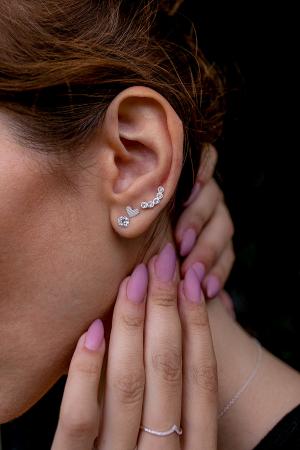 CERCEI ARGINT LITTLE DIAMONDS HEARTS [2]