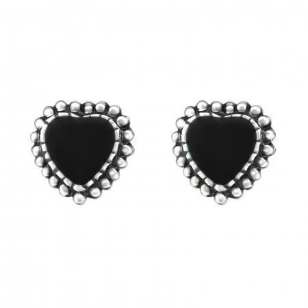 CERCEI ARGINT BLACK HEARTS0