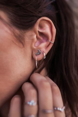 CERCEL EAR CUFFS TIBET ARGINT2