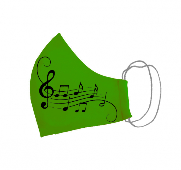Masca bumbac pictata manual verde [1]