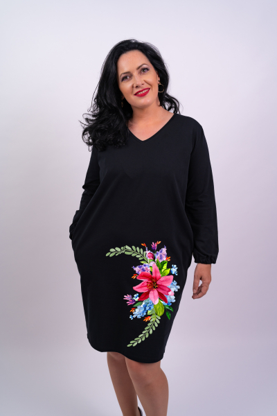 Rochie din bumbac pictata manual Gyany [0]
