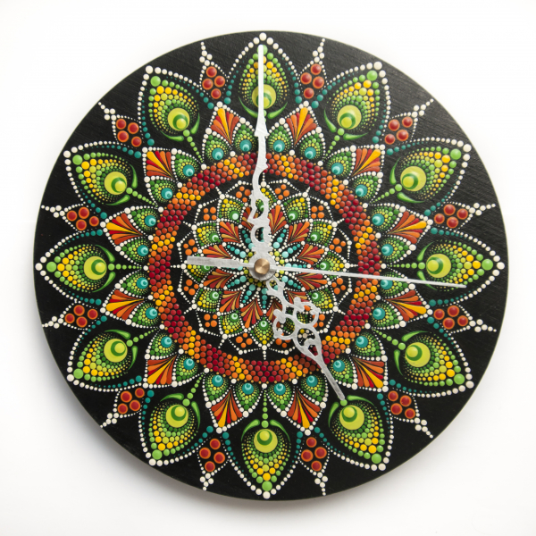 Ceas Mandala decorativ, pentru perete [2]
