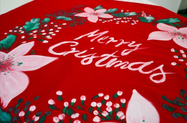 Centru de masa PERSONALIZABIL pictat manual Christmas [0]