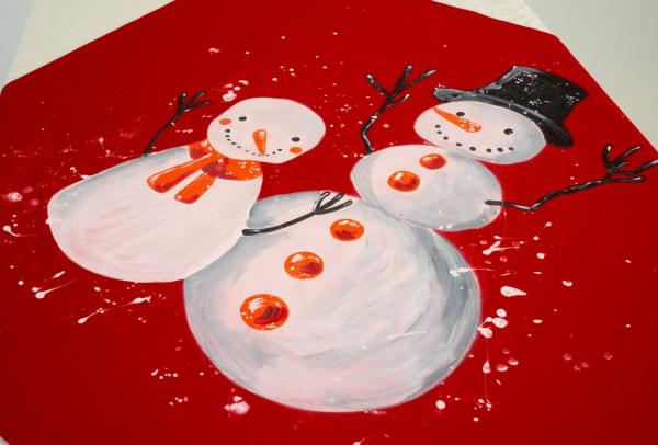 Centru de masa PERSONALIZABIL pictat manual Christmas [2]