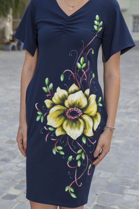 Rochie din bumbac pictata manual Numba [1]