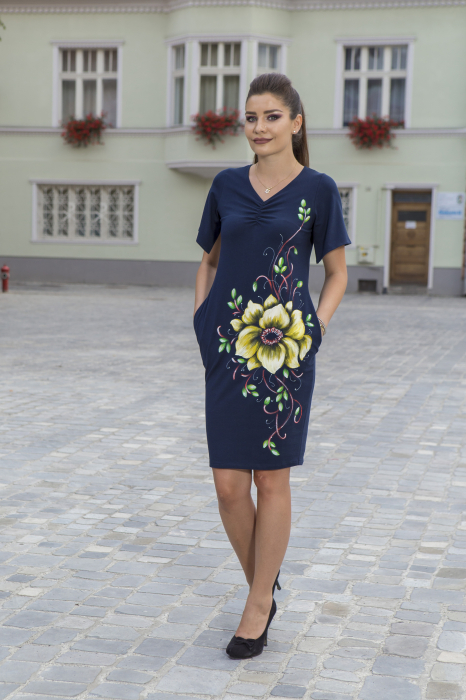 Rochie din bumbac pictata manual Numba [2]