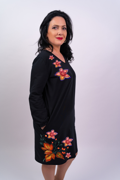 Rochie din bumbac pictata manual Bety [0]