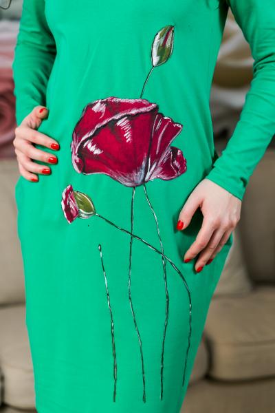 Rochie din bumbac pictata manual Carolina [1]