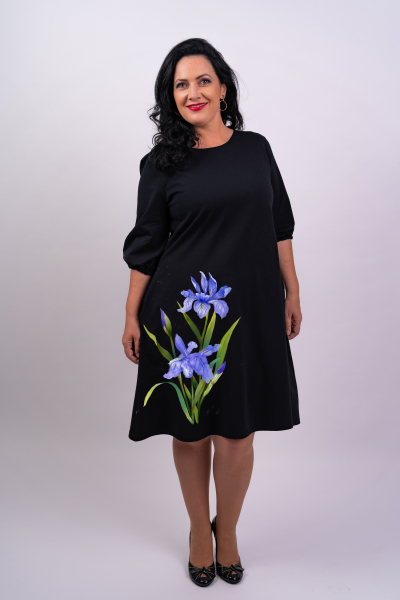 Rochie din bumbac pictata manual Ery [0]