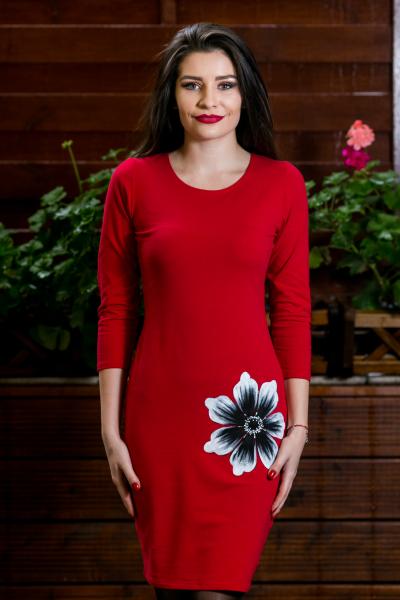 Rochie din bumbac pictata manual Irina [0]