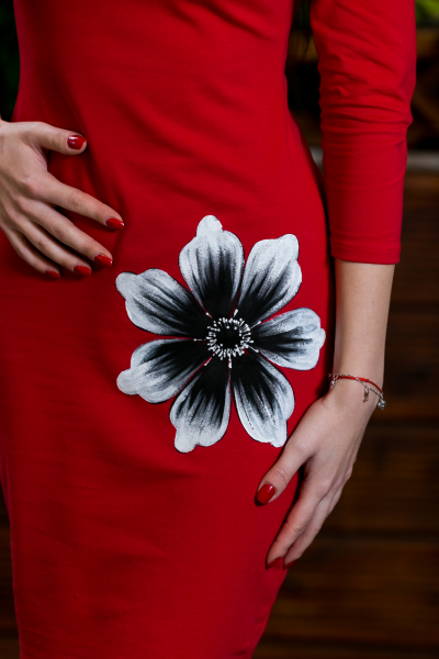 Rochie din bumbac pictata manual Irina [1]