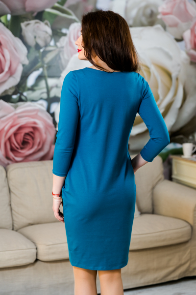 Rochie din bumbac pictata manual Mady [3]
