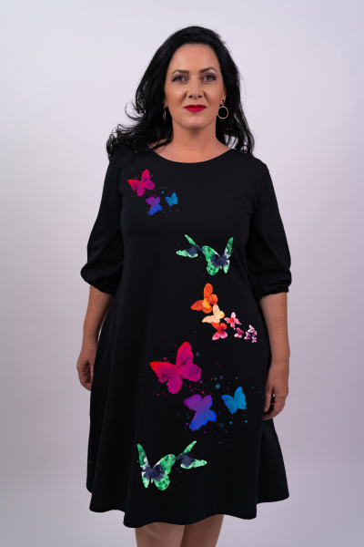 Rochie din bumbac pictata manual Simuy [0]