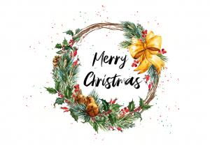 Centru de masa PERSONALIZABIL pictat manual Christmas [4]