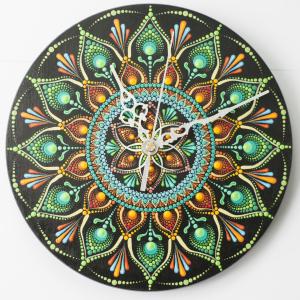 Ceas Mandala decorativ, pentru perete [1]