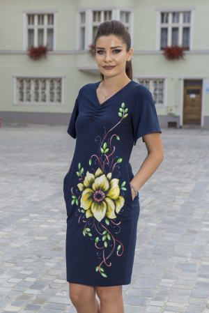 Rochie din bumbac pictata manual Numba [4]