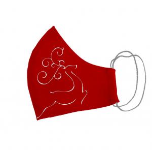 Masca bumbac pictata manual rosie [11]